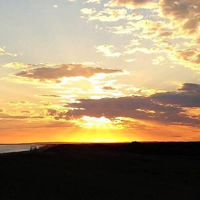 Sun Photograph - Sunset Martha's Vineyard by Eugene Bergeron
