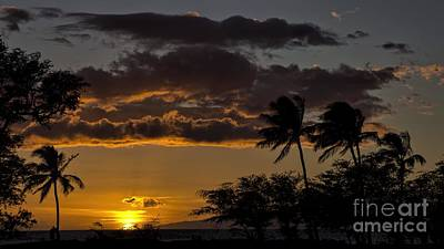 Photograph - sunset Maui by Peggy Hughes