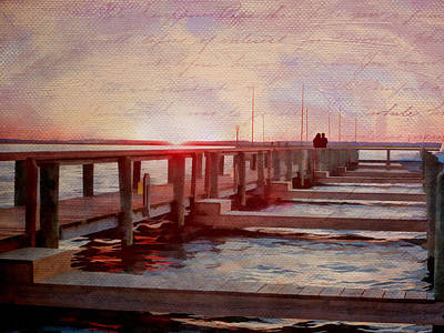 Photograph - Sunset Memories From Chincoteague by Julia Springer