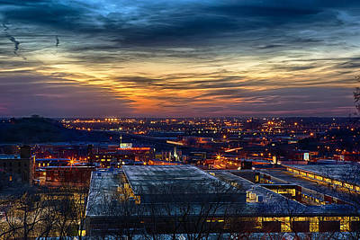 Photograph - Sunset Metro Lights And Splendor by Sennie Pierson