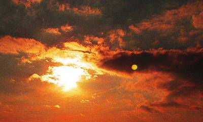 Moonrise At Sunset Photograph - Sunset Moon by Carole Ciambrone
