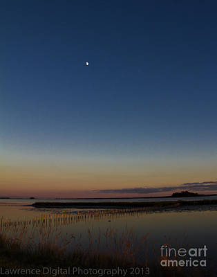 Photograph - Sunset Moon by Ursula Lawrence