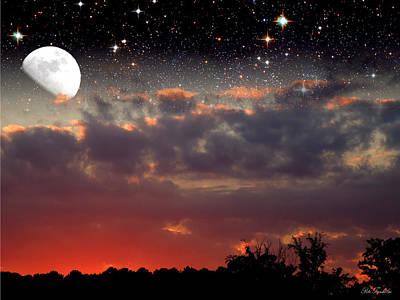 Sunset Moonrise Art Print by Pete Trenholm
