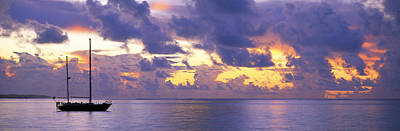 Sunset Moorea French Polynesia Art Print by Panoramic Images