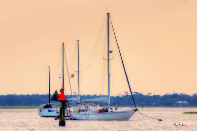 Amelia Island Photograph - Sunset Moorings by Barry Jones