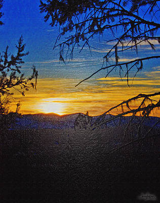 Art Print featuring the photograph Sunset Mountain To Mountain by Janie Johnson