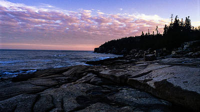 Photograph - Sunset Near Otter Cliffs by Jeremy Herman