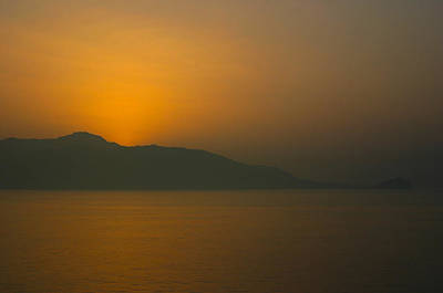 Photograph - Sunset Near Santorini by Jim Vance