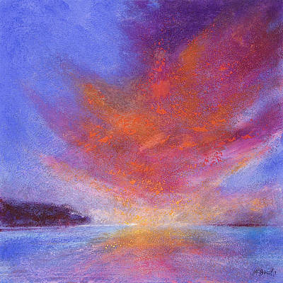 Orange Painting - Sunset by Neil McBride