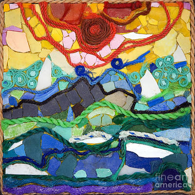 Sunset Art Print by Nicola Scott-Taylor