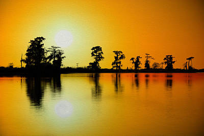 Sunset Nola Oil Painting Art Print by Mark Hazelton