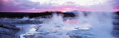 Sunset, Norris Geyser Basin, Wyoming Art Print by Panoramic Images