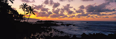 Sunset North Shore, Oahu, Hawaii Print by Panoramic Images