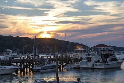 Sunset Northport Dock Art Print