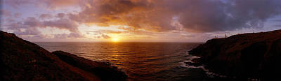 U.k Photograph - Sunset Oceanscape England by Panoramic Images