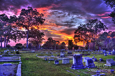 Photograph - Sunset Of Life And The Greensboro Cemetery by Reid Callaway