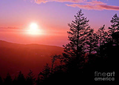 Photograph - Sunset Off Mt Erie Washington Art Prints by Valerie Garner