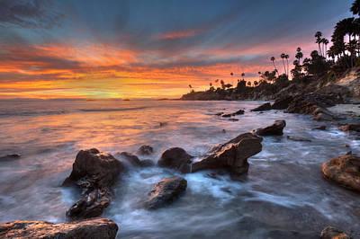 Sunset Off The California Coast Art Print by Cliff Wassmann