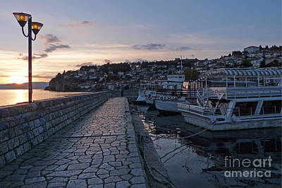 Photograph - Sunset - Ohrid - Macedonia by Phil Banks