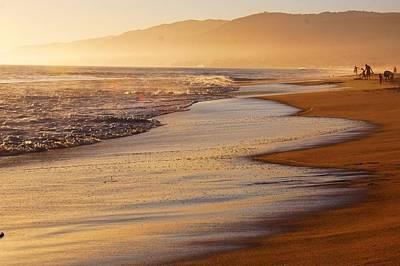 Sunset On A Beach Art Print