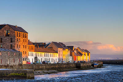 Art Print featuring the photograph Sunset On A Beautiful Winter Day In Galway Ireland by Mark E Tisdale