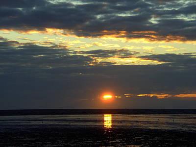 Sunset On A Cloudy Evening Art Print
