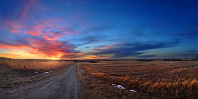 Photograph - Sunset On Aa Road by Rod Seel