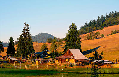 Photograph - Sunset On An Oregon Ranch by Michele Avanti