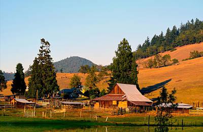 Spot Of Tea - Sunset on an Oregon Ranch by Michele Avanti