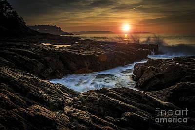 Seascape Photograph - Sunset On Ares Estuary Galicia Spain by Pablo Avanzini