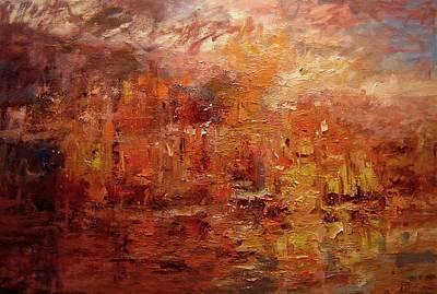 Sunset On Atlantis Original by R W Goetting