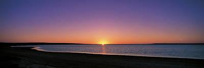Sunset On Beach Australia Art Print