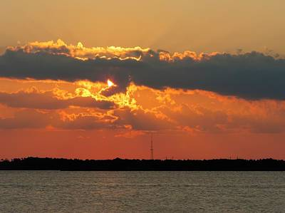 Photograph - Sunset On Biloxi Bay by Cathy Jourdan
