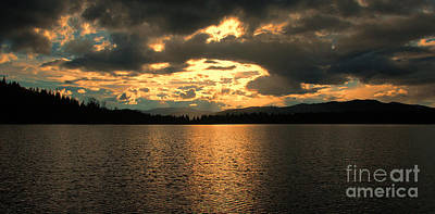 Photograph - Sunset On Blue Lake by Sam Rosen