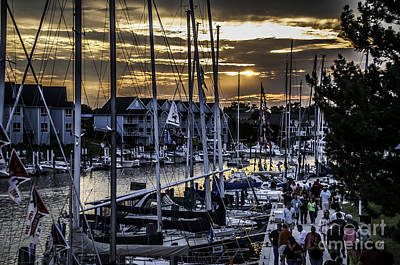 Photograph - Sunset On Boat Week by Ronald Grogan