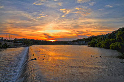 Photograph - Sunset On Boathouserow by Alice Gipson