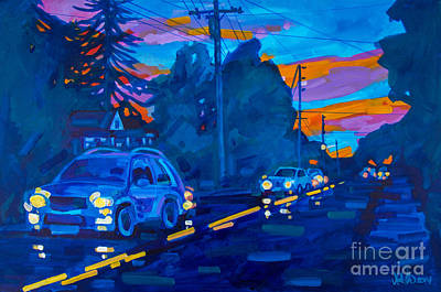 Sunset On Branch Avenue Art Print by Michael Ciccotello