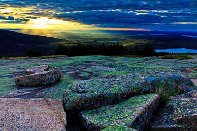 Photograph - Sunset On Cadillac Mountain by Ben Graham