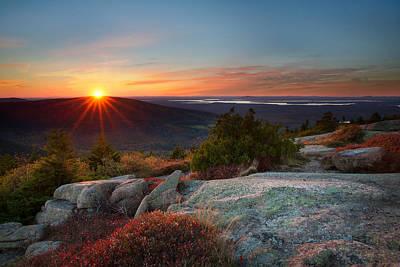 Photograph - Sunset On Cadillac Mountain by Darylann Leonard Photography