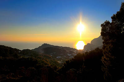 Photograph - Sunset On Capri - Italy by Mark E Tisdale