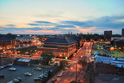Photograph - Sunset On Cary And Main Streets by Paulette B Wright