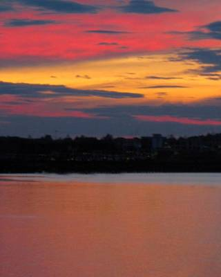 Sunset On Casco Bay Maine Art Print by Patricia E Sundik