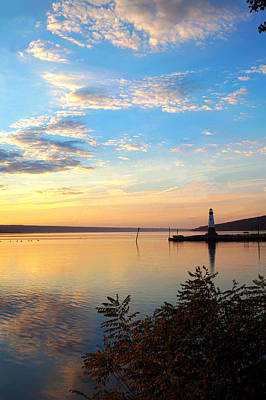 Photograph - Sunset On Cayuga Lake II Ithaca New York by Paul Ge