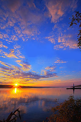 Photograph - Sunset On Cayuga Lake IIi Ithaca New York by Paul Ge