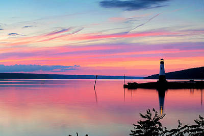 Sunset On Cayuga Lake Ithaca New York Art Print