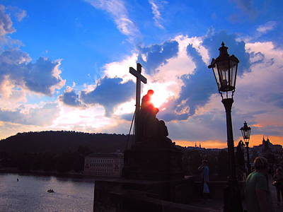 Mystic Photograph - Sunset On Charles Bridge by Andreas Thust