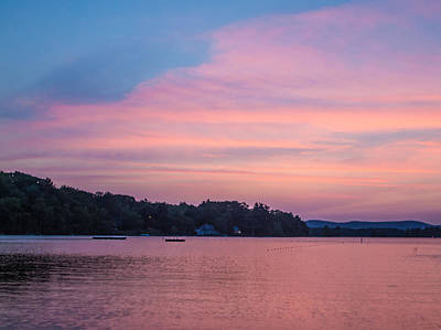 Photograph - Sunset On Chickawaukee Lake by Ernest Puglisi