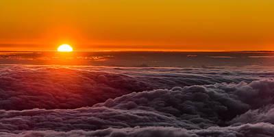 Sunset On Cloud City 1 Art Print