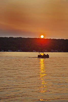 Photograph - Boating Into The Sunset by Richard Engelbrecht