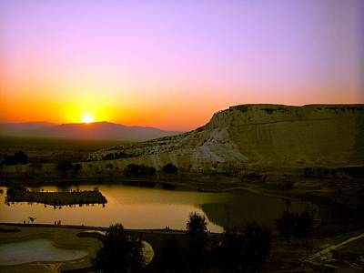 Photograph - Sunset On Cotton Castles by Zafer Gurel